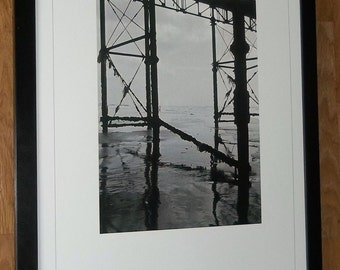 Paul Thompson photo - Tide print, B&W beach print - 20''x16'' frame