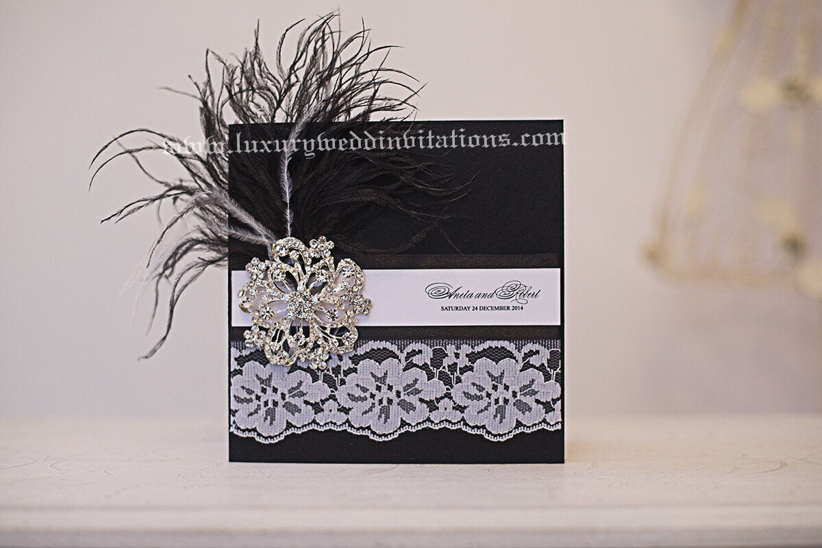 Great Gatsby Wedding Invites: Great Gatsby Invitations Luxury Wedding By