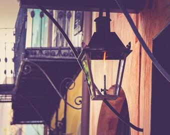 "Charleston Art, Fine Art Print, Lantern, Charleston Photography, Light, Southern Decor, Charleston Architectural, Ironwork - ""Bonsoir"""