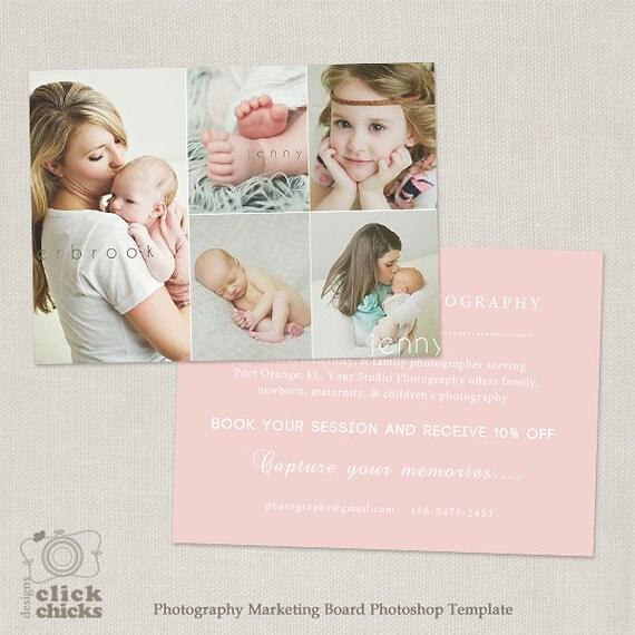 promo card photography marketing template flyer postcard