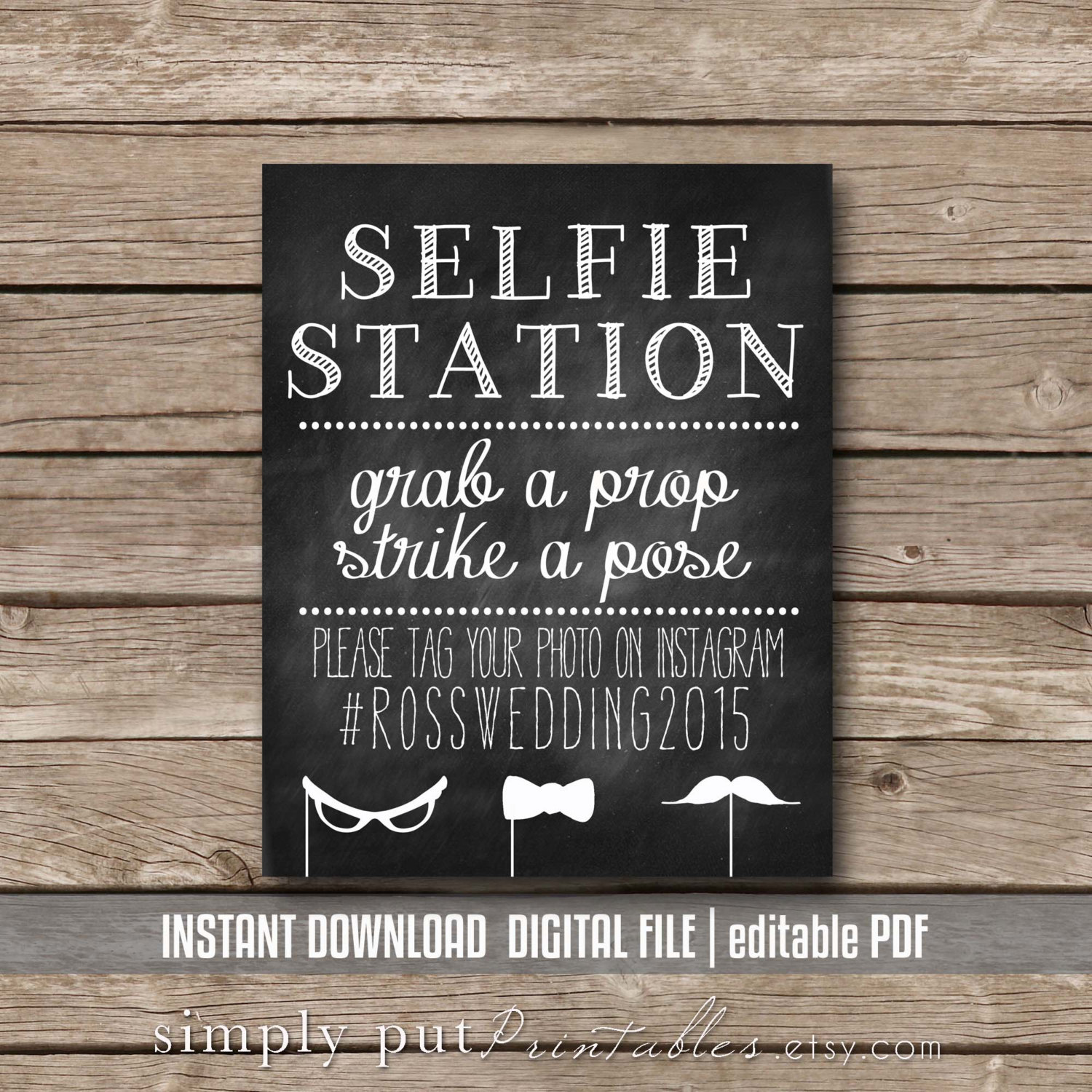 It is an image of Stupendous Selfie Station Sign Free Printable