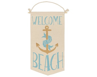Welcome Beach Hanging Banner