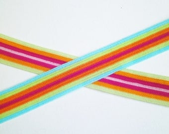 "1m  elastic trim ""Rainbow"" 15 mm w."