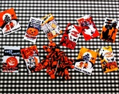 Miniature Halloween Trick-Or-Treat Bag and Candy Set  (playscale 1/6 scale diorama mini- fashion dolls)