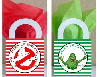 SALE! Small Boxes 3x3x2.5 inches Personalized Ghostbusters Favor Boxes Ghostbusters Favor Bags Ghostbusters Popcorn Box Ghostbusters Party