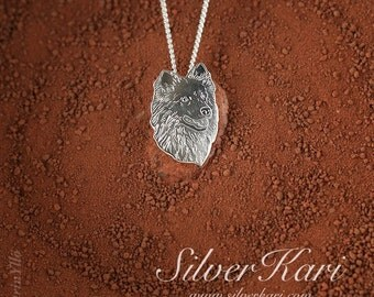 Icelandic Sheepdog, a chain with pendant, all in sterling silver