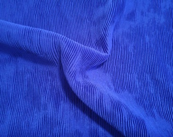 90s CERULEAN BLUE SLINKY, Stretch Fabric