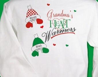 Personalized Heart Warmers Sweatshirt