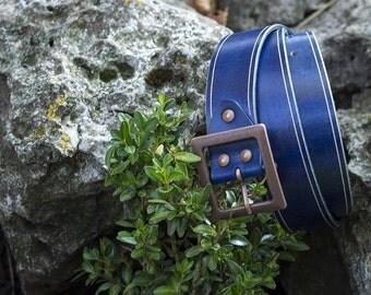 leather belt  leather belt men blue leather belt