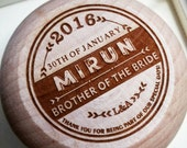 Brother of the bride gift yoyo - laser engraved - personalized