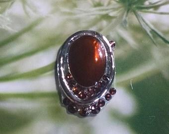 Brown Crystal Bindi
