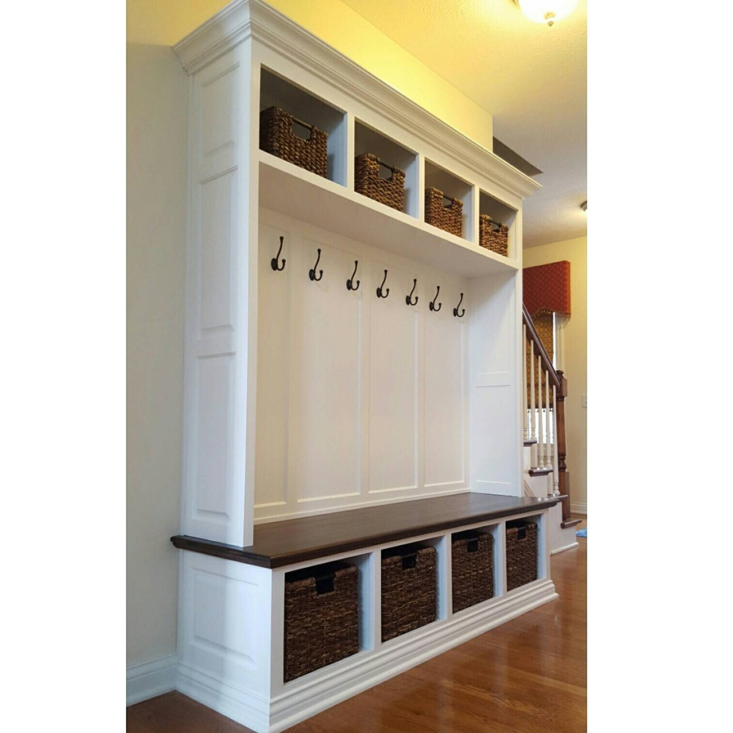 Mudroom Storage For Sale : Sale mudroom lockers bench storage furniture