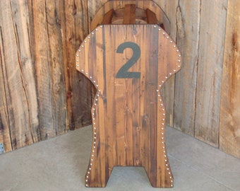 Personalized rustic western saddle stand. Saddle rack, Wood saddle stand, Rustic saddle rack