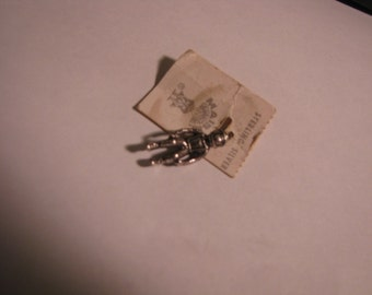 Vintage Sterling Silver Charm, Astronaut, on Original store card