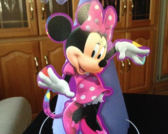 Minnie Mouse Party hat Handmade Birthday Cake smash photo prop