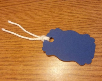 20 Dark Blue Tags, Blue #1, Hanging Labels, Hang Tags, Card Stock, Gift Tags, Gift Bag Tags