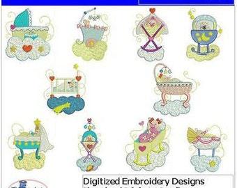 Embroidery Design CD - Bedtime(1) - 10 Designs - 9 Formats - Threadart