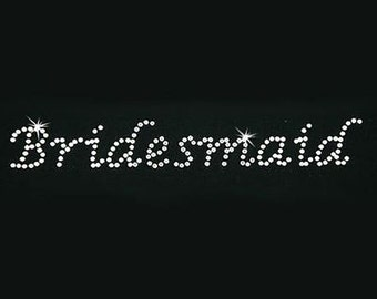 Rhinestone Transfer - Hot Fix Motif - Bridesmaid - Lucinda