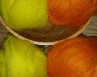 """One Pound Shetland Roving Pack """"Candy Corn"""""""