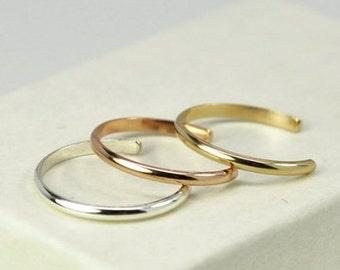 Half Round Toe Ring (JC-836)