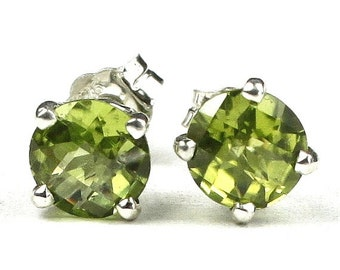 Summer Sale, 30% Off, SE012, Peridot, 925 Sterling Silver Post Earrings