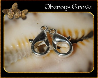 20 lobster clasps light silver 5,5x10mm