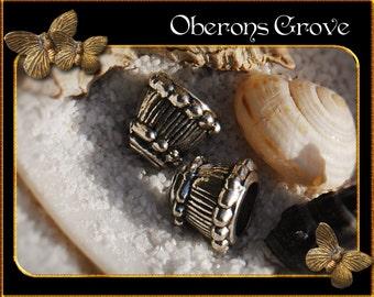 10 cone bead caps 8x10mm silver