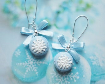 earrings macarons snowflake