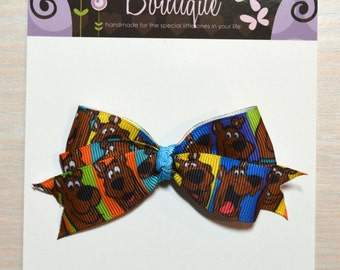 Boutique Style Hair Bow - Scooby Doo