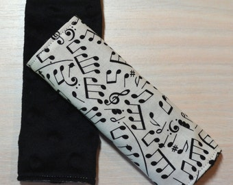 Car Seat Strap Covers - Music Notes