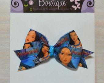 Boutique Style Hair Bow - Disney Princess, Pocahontas