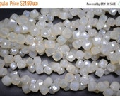 On Sale AAA 20 Beads 7-8mm Superfine Pearl Chalcedony Faceted Cube Shape Briolette Beads Strand