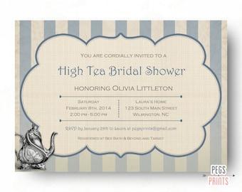 High Tea Invitation - Bridal Shower Tea Party Invitations (Printable) Afternoon Tea Invitation - Bridal Tea Invitation - Garden Party Invite