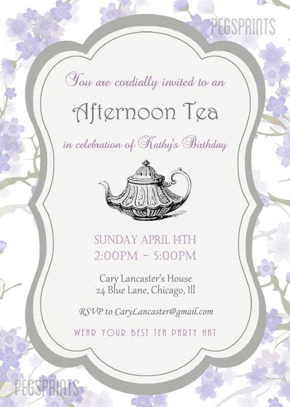 Free Afternoon Tea Invitation Template – orderecigsjuice.info
