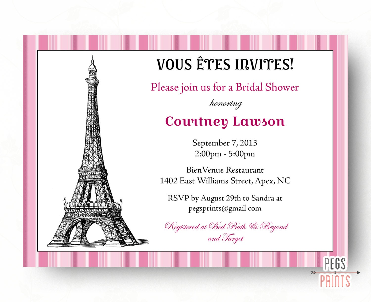 parisian themed bridal shower invitations - 28 images - theme bridal ...