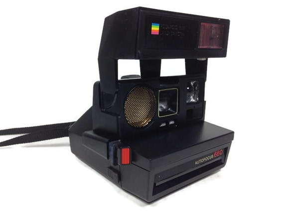 vintage polaroid 600 land camera polaroid autofocus 660. Black Bedroom Furniture Sets. Home Design Ideas
