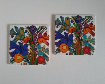 Vintage Tile Trivets, 2.