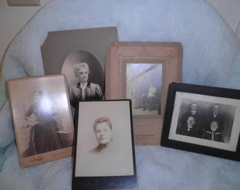 Group Of Old Cabinet Photographs