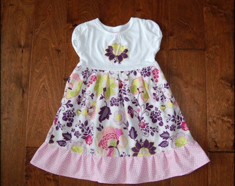 Clearance, dress on sale**Girls floral dress**Flowers, ruffle, pink, purple**Spring Summer dress**Size 3t ready to ship, last one*Pat Bravo