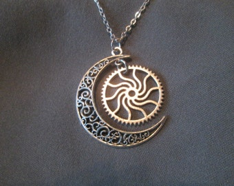 Sun and Moon Necklace