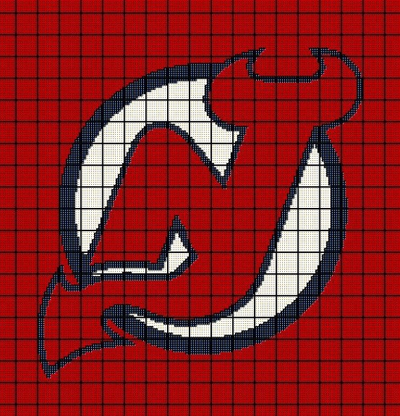 Crochet Hockey Afghan Pattern : New Jersey Devils NHL Hockey Crochet by AngelicCrochetDesign