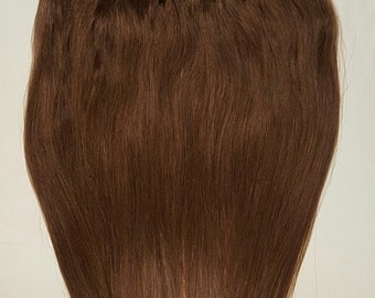 """20"""" Weft Hair, 100grs,Weft Weaving (Without Clips),100% Human Hair Extensions #4 Dark Brown"""