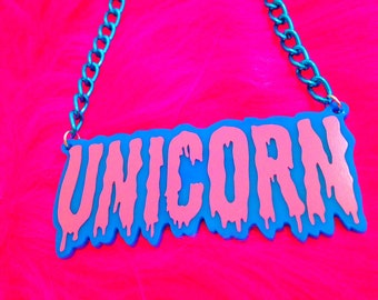 Unicorn Drippy Necklace