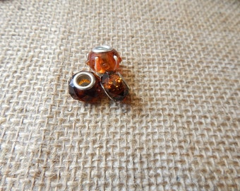 Amber Beads for add a bead bracelets Spacer Beads DIY bracelet