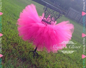 Pretty In Pink Tutu Hot Pink Tutu Birthday Tutu Cake Smash Tutu Pageant Tutu