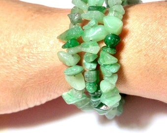Three laps Bracelet with green Aventurine