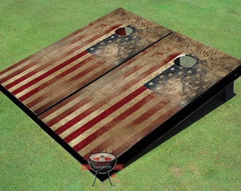 Custom Corn Hole Constiution Flag # 2 Graphic Cornhole Boards
