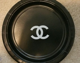 Chanel Themed Cake Plates (set of 24)