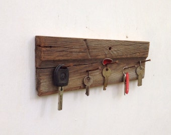 Rustic Reclaimed Wood Key Holder