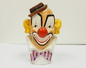 Clown Head Vase Planter Relpo